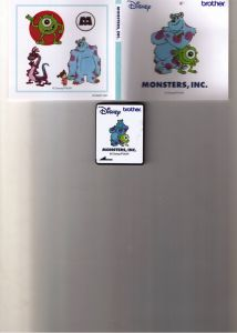 DISQUETTE BRODERIE  ''MONSTERS'' by DISNEY